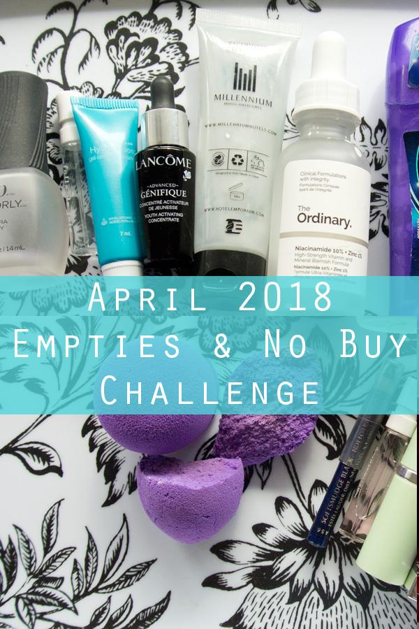 April Empties and No Buy Challenge