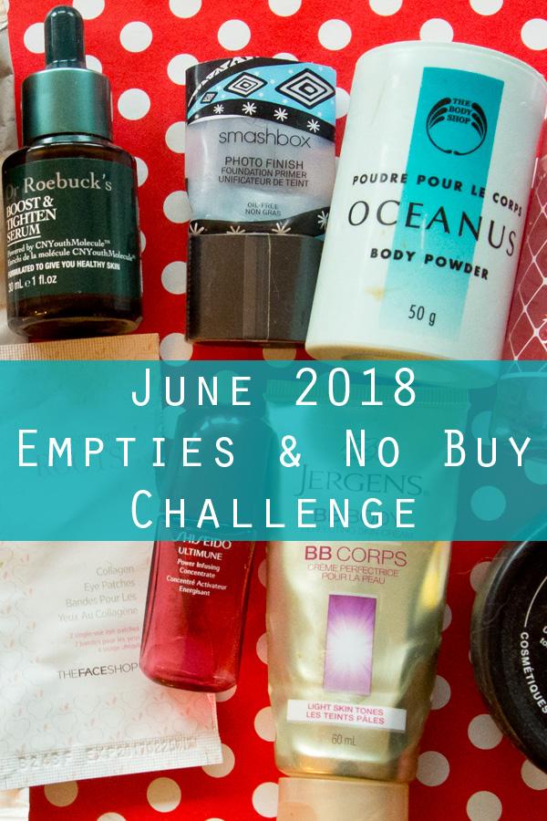 June 2018 Empties