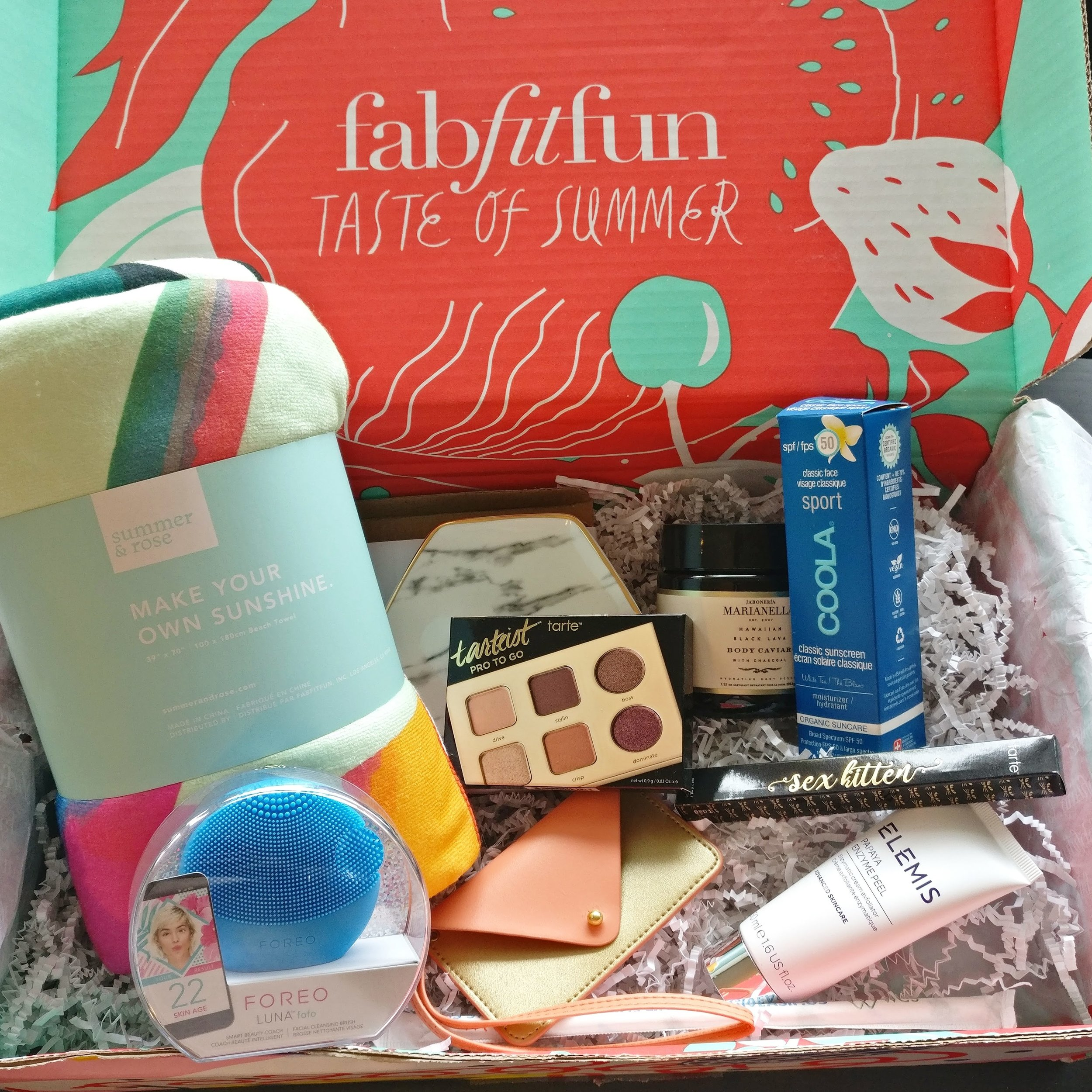 FabFitFun Summer 2018 Subscruption Box