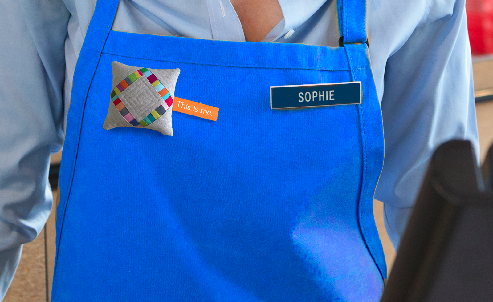 We turned all of Pier 1 employees pillows, generated from their Instagram feeds, into a personalized tag they wear in stores.