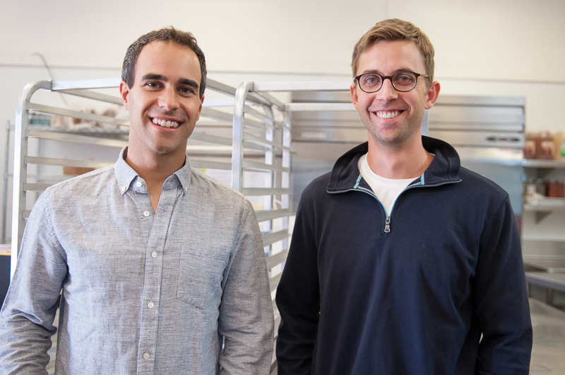 Marc Manara and Mark Wittman, co-founders of Farm Hill cooked and delivered the first 1,000 meals themselves.