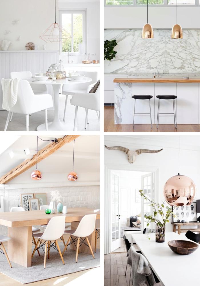 Clockwise:  Kim Timmerman  via   The Design Files  //  Arent & Pyke  via   The Design Chaser  //  Tom Dixon Pendant  via   Interiors by Studio M  //  Home & Delicious