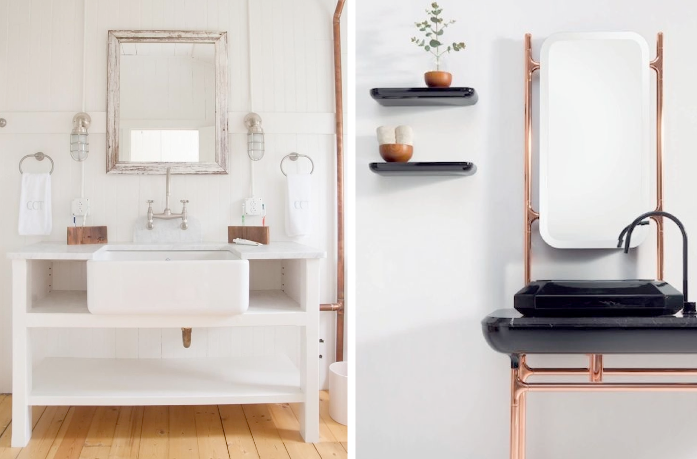 Left to Right:  Remodelista  //  Pinterest