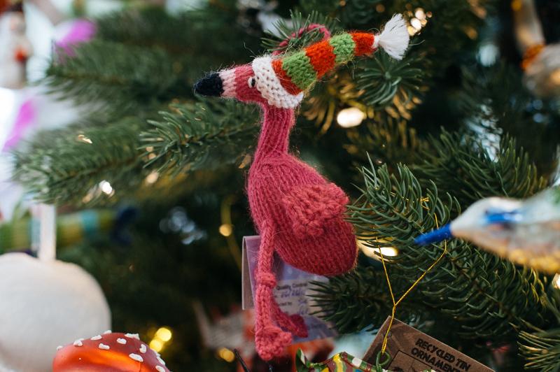 Flamingo Ornament // Pomegranate Seeds
