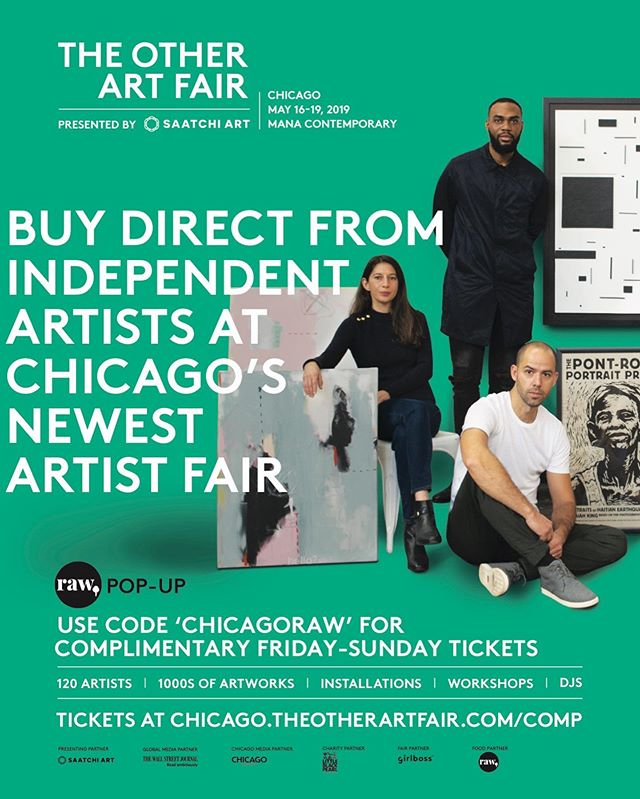 Raw Pop Up! EXCITING NEWS! We will be the exclusive food vendor at @theotherartfair next weekend! This will be such a fun event & you are all invited!! Use the code 'CHICAGORAW' for free tickets! The event is May 17-19 at the @manacontemporary in Pilsen! Link in bio to redeem your tickets & for more event info. We would love to have our amazing customers & support at the event. We have come up with a fun pop up menu that includes your favorite items from Raw! HOPE TO SEE YOU THERE! ✨ please share this and tag your friends- it's going to be a blast!!