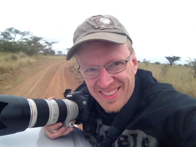Brian fulfilling Bucket List on Safari in Kenaya - 2013