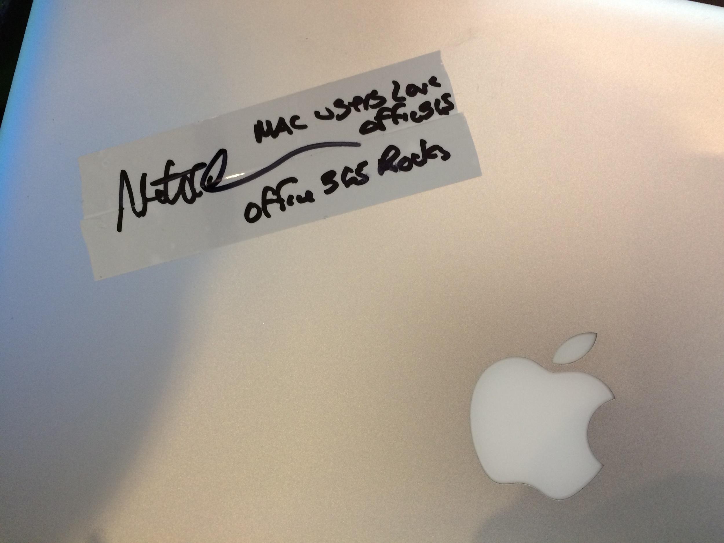 """""""Mac users love Office CS... Office 365 Rocks!"""" Thank you Matt!"""