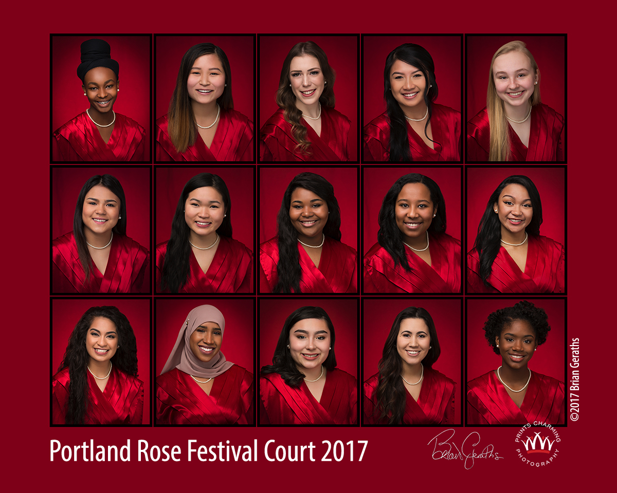 Portland Rose Festival Court 2017