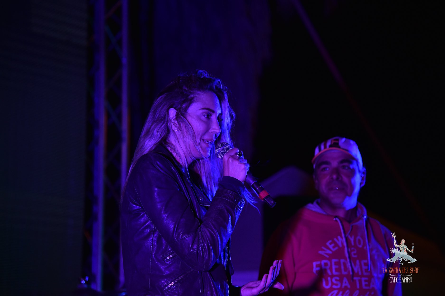 Presenting her film and book at the Sagra del Surf Festival 2019