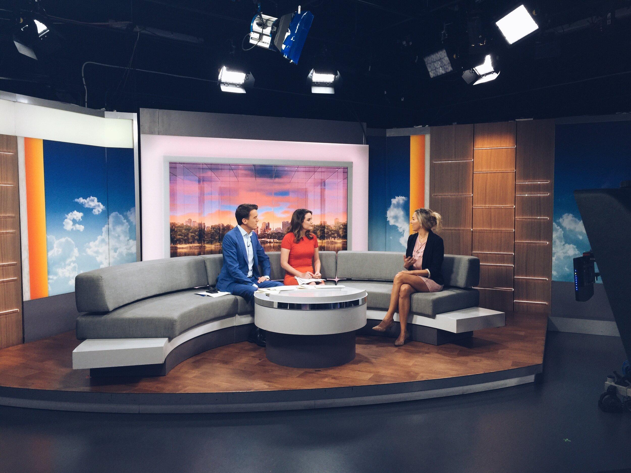 On ABC News Australia talking about her film Balentes cinemas tour