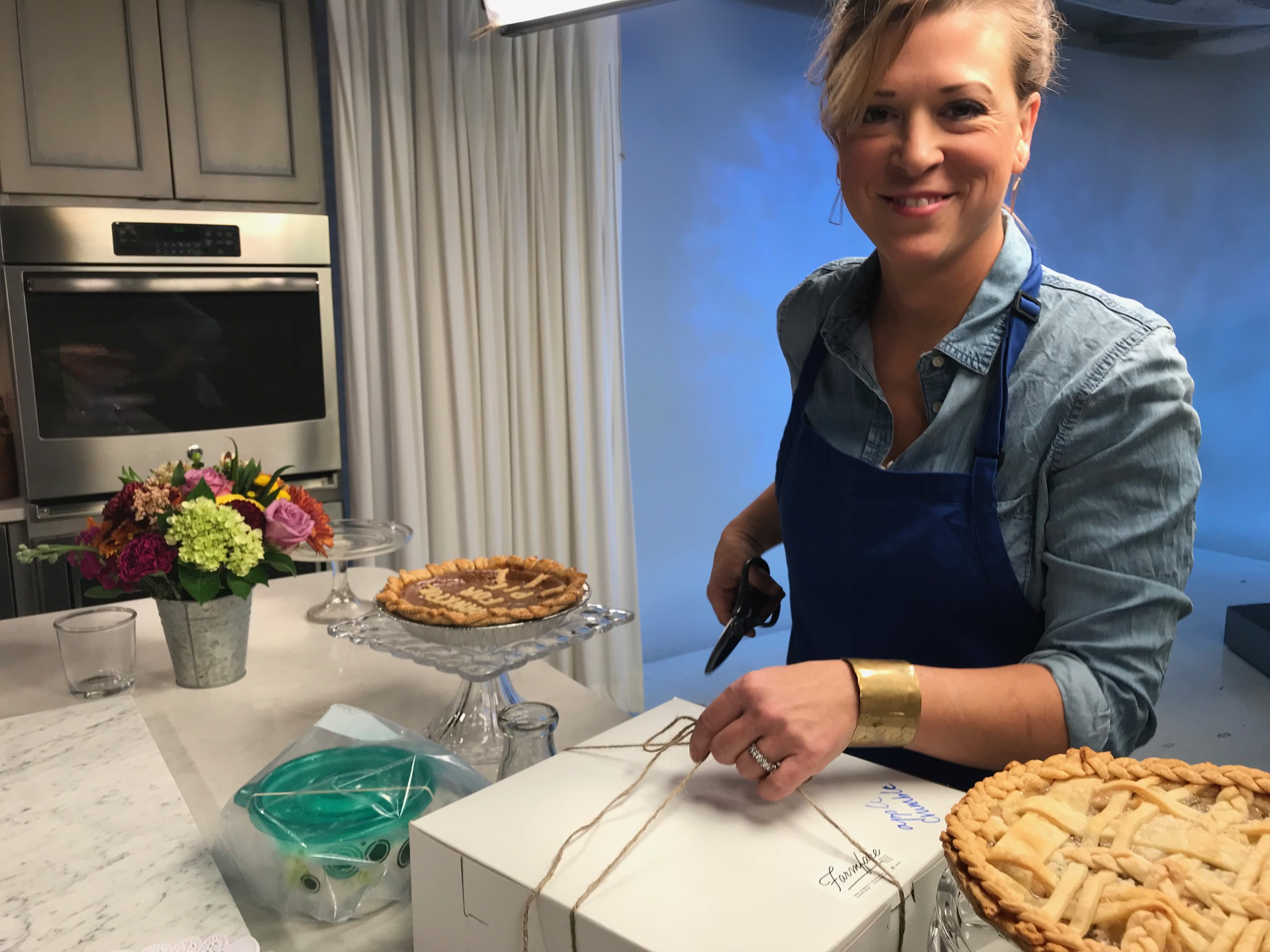 Katie is a frequent guest chef on Kansas City news and entertainment broadcast stations. This Thanksgiving pie segment was a viewer favorite.