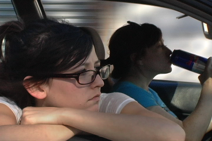 Lucy Griffin and Roxie Fuller in Howlin' (2009).