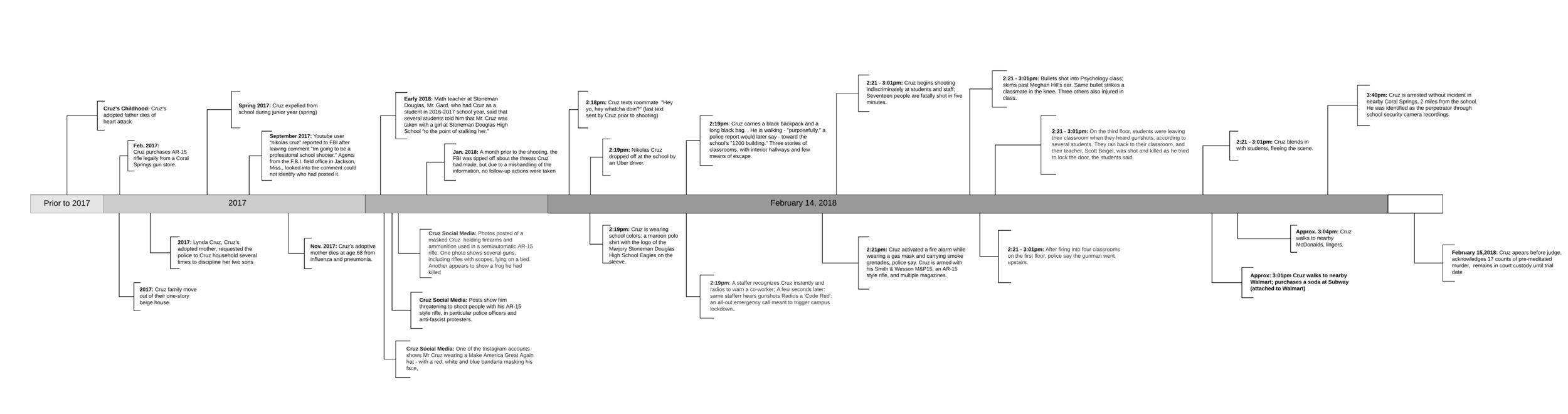 Stoneman Douglas Shooting Timeline , 2019, Johns Hopkins University.  Click image to enlarge.