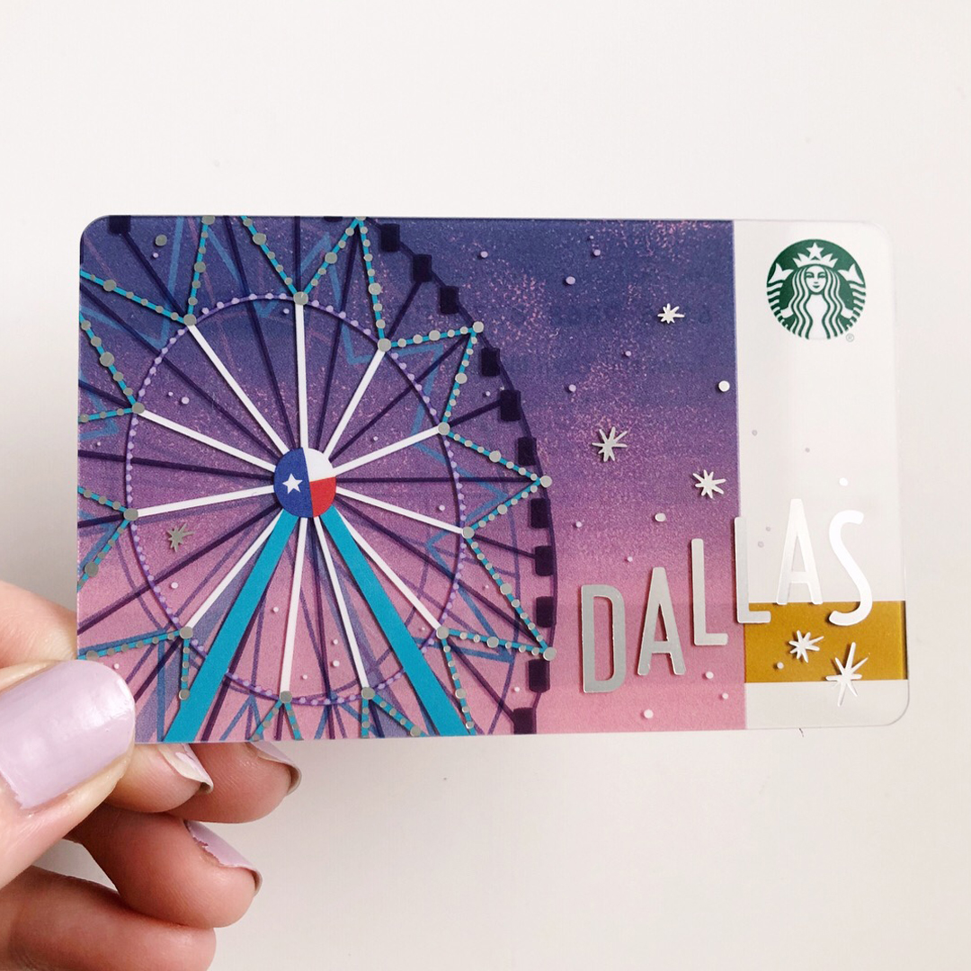 Starbucks Local Card for Dallas, TX.