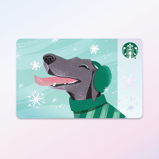 Starbucks Holiday 2018 featuring my pup, Dignan.