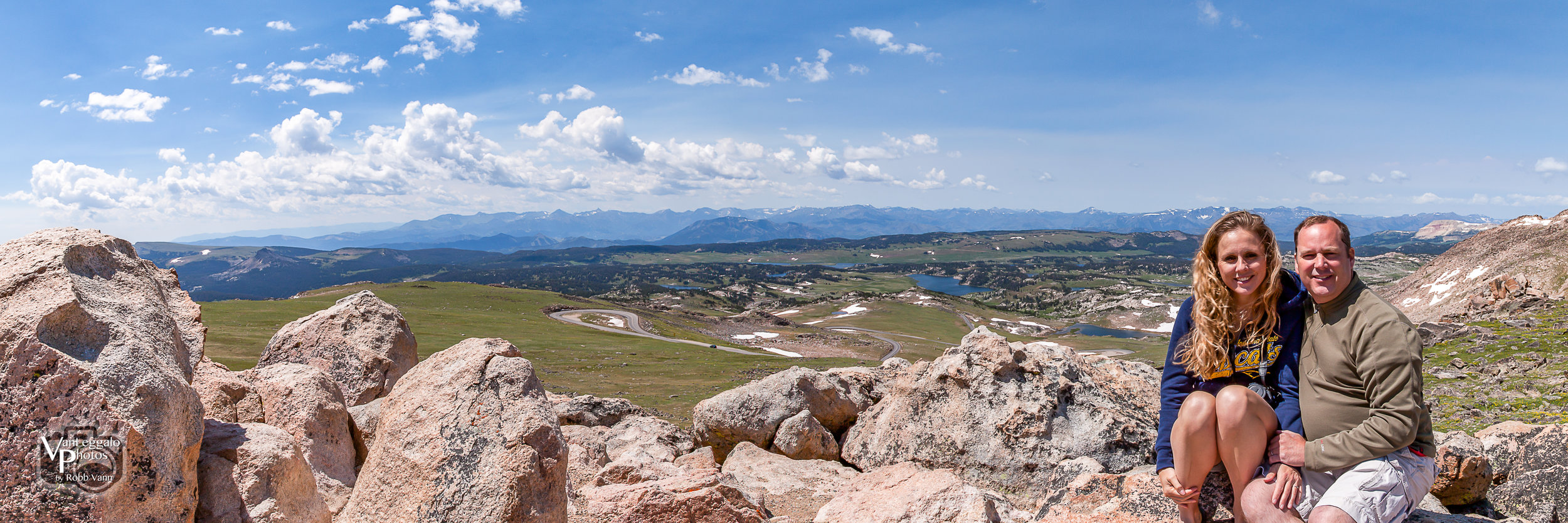 Robb and Alicia Vann overlooking Beartooth Pass to Cook City, MT