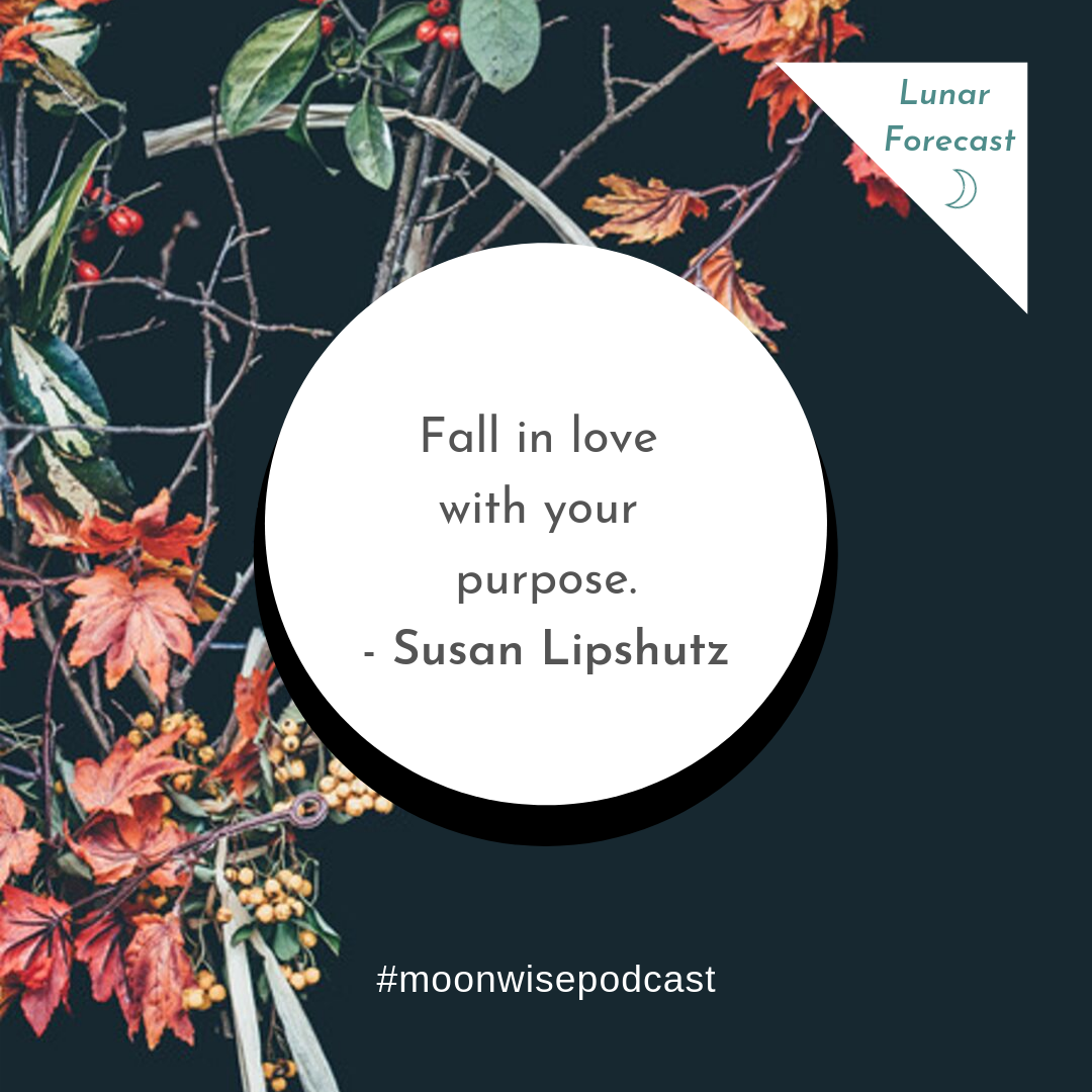 Love in Action Moon - A lunar forecast for September 28 - October 27, 2019 by Susan Lipshutz featuring tips and practices for working with the energies of the month.