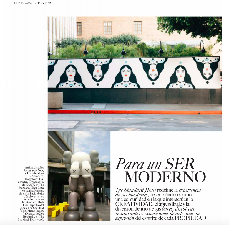 "The ""Grace and Grit"" Mural featured in the August issue of  Vogue Mexico , on stands now."