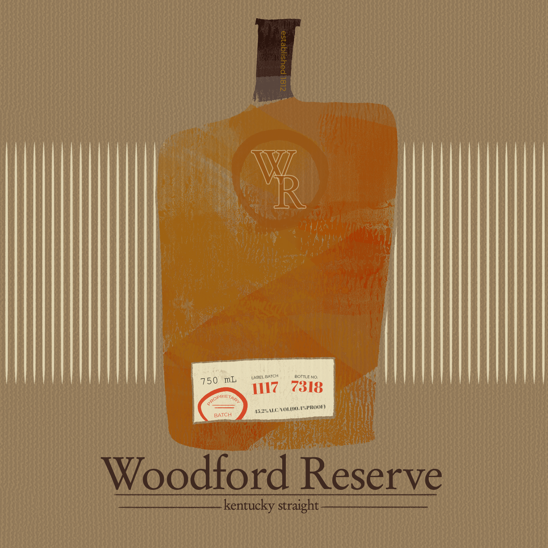 Reconceptualization of the Woodford Reserve Brand. Masculine with a sense of whimsy, this is designed to carry a global, yet retro feel.