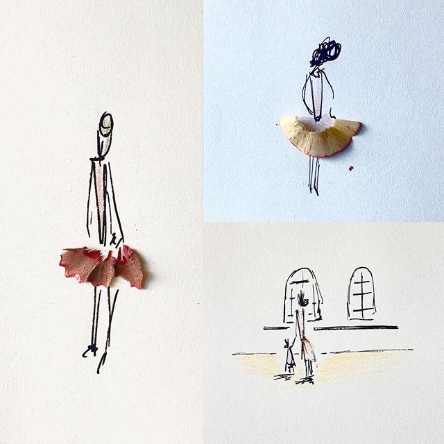 Ballerina sketchin' // 🖍✏️💃🏼👯♀️ • • • • • #art #illustration #doodle #pen #uniposca #makeart #ballerina #ballet #dancer #sketch #sketchbook #create #figuredrawing #coloredpencil #drawing #louisvilleartist #eyeballgirl