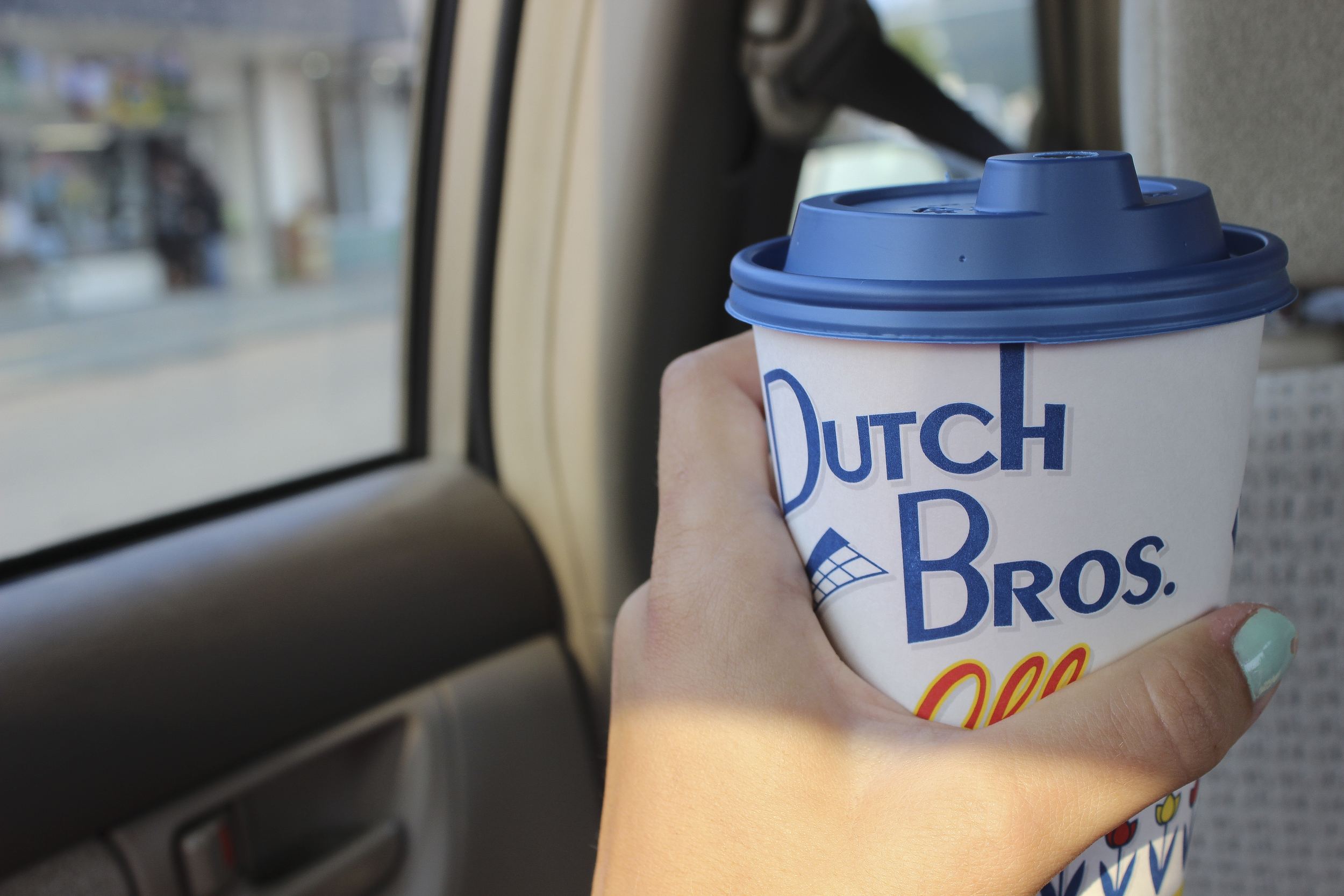 And what better to warm up other than hot chocolate from Dutch Bros.