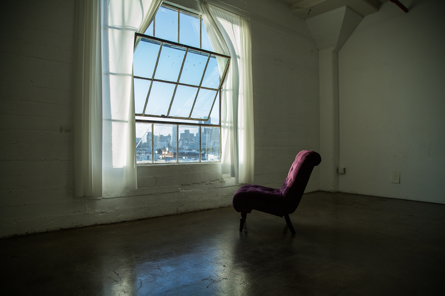Purple Chair in Studio B_Concrete Studios LA