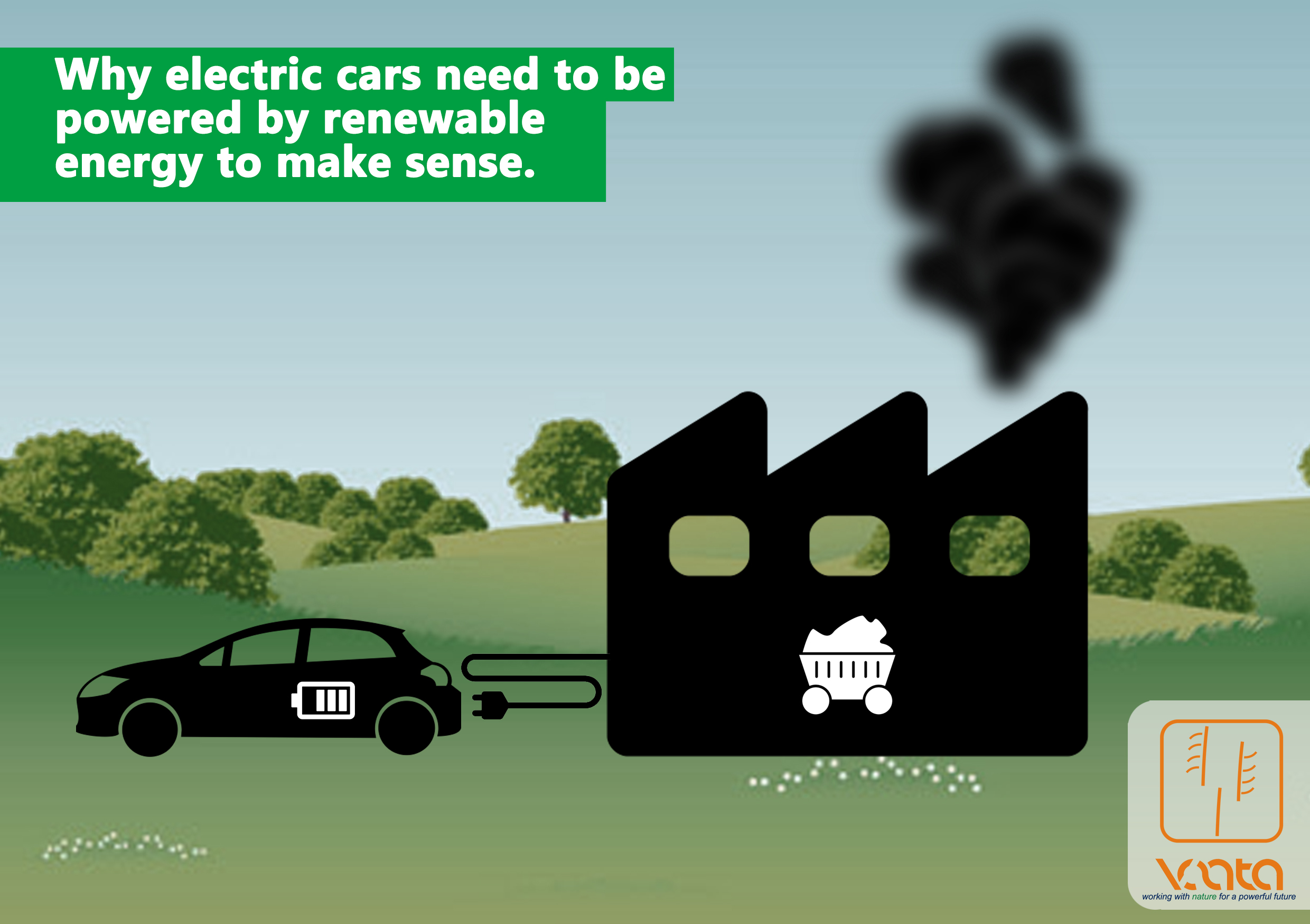 Why electric cars need to be powered by renewable energy to