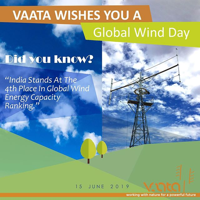 Happy Global Wind Day: Celebrate the power of wind with SMART!  It's #GlobalWindDay! Did you know India Stands At The 4th Place In Global Wind Energy Capacity Ranking. #windenergy #renewableenergy #solarenergy #cleanenergy #renewables #windturbine #windpower #climatechange #wind #energy #windenergie #windfarm #der #electricity #cleanjobs  #solar #windturbines #windmill #windrad #greenenergy #windkraft #solarpower #windkraftanlage #offshore #enercon #environment #jobs #climateaction #didyouknow