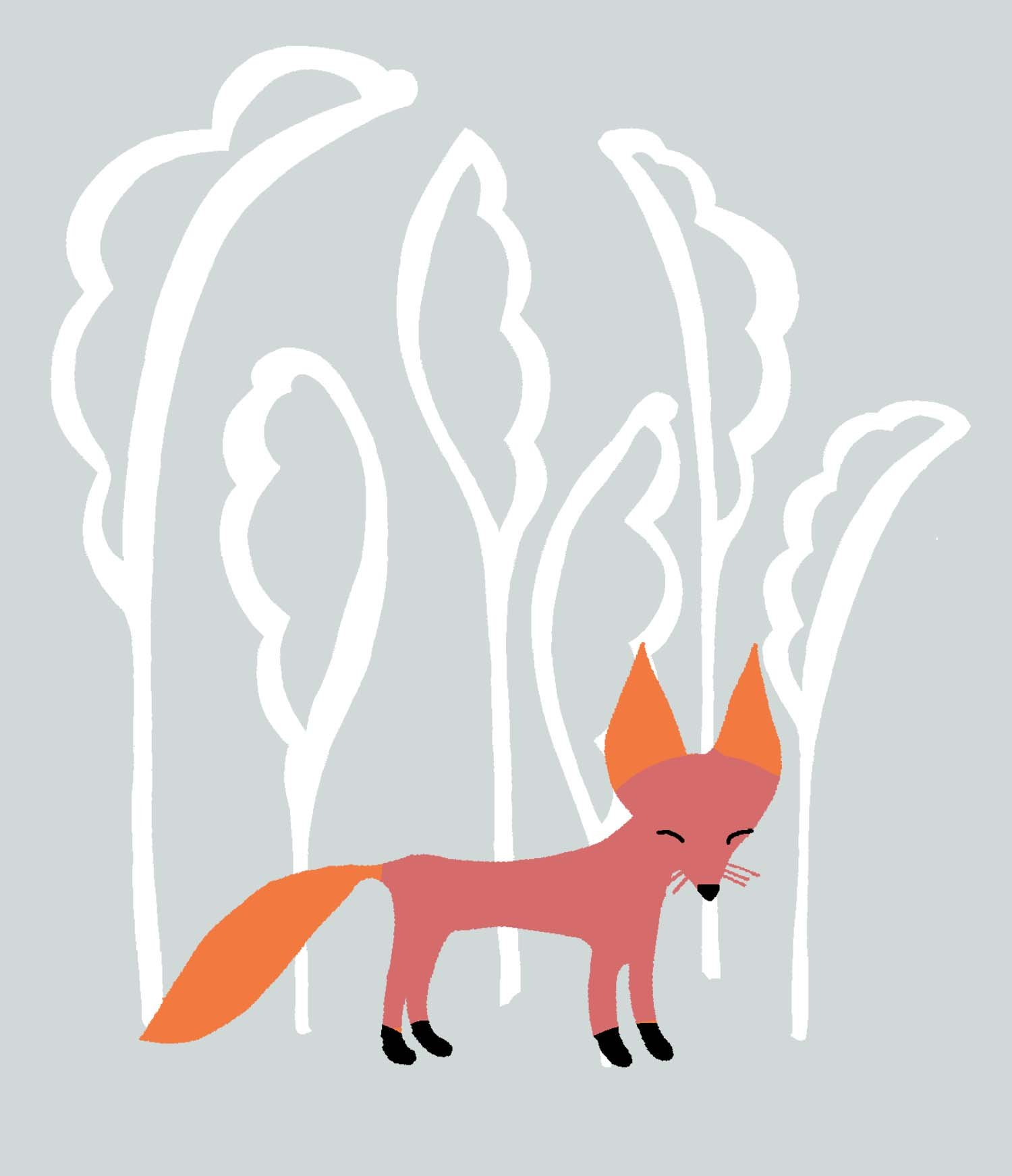 Snow fox knit design