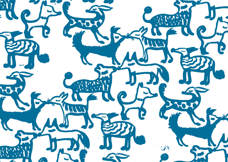 French dog print