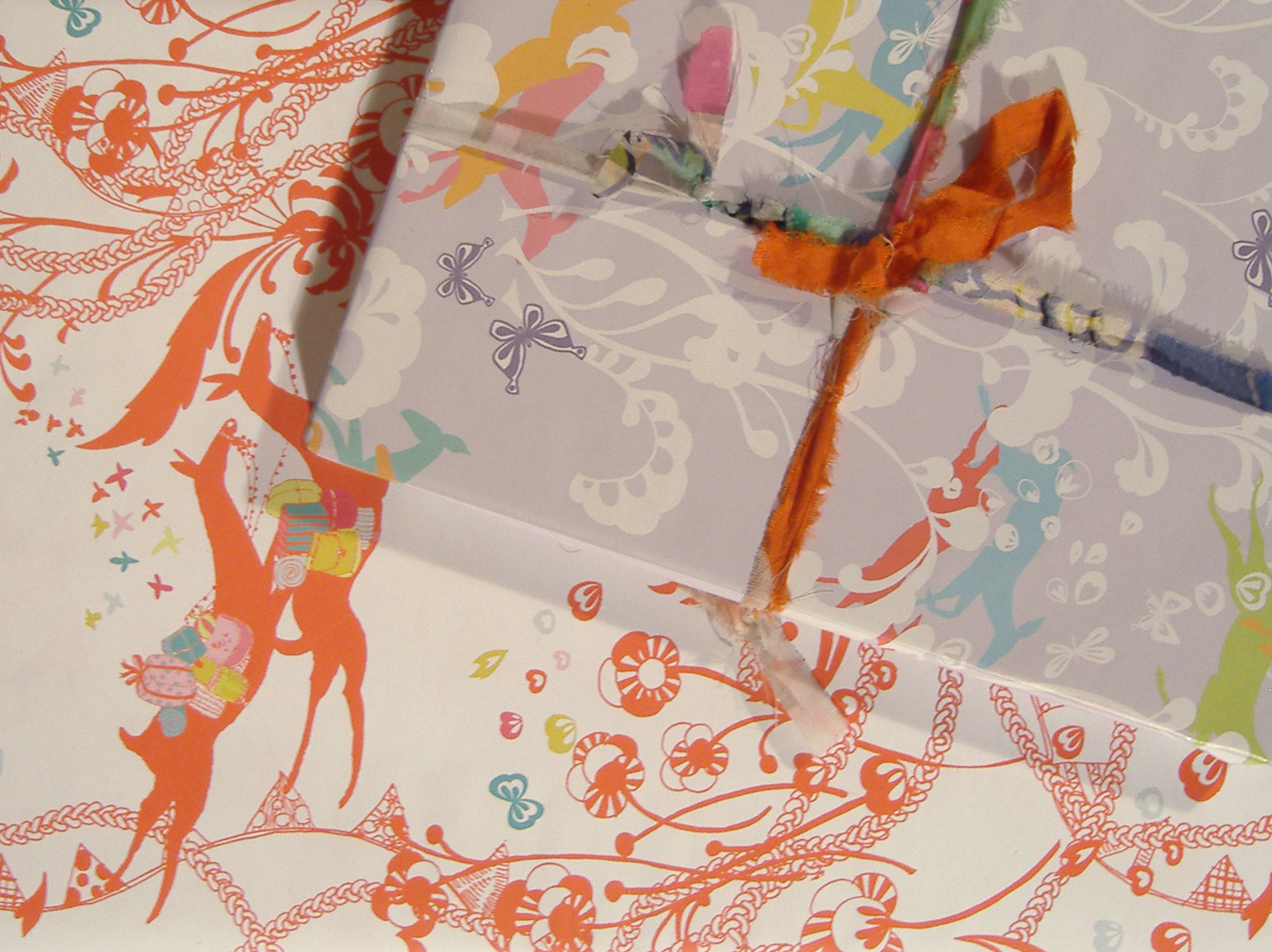 Wrapping paper for cannsdown press