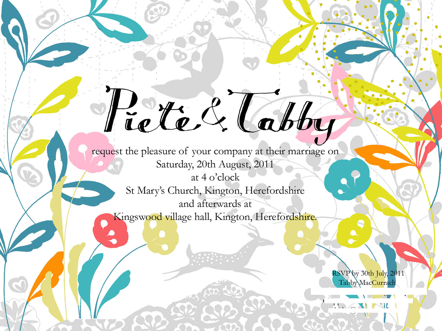 Tabby and Piete Wedding Invite