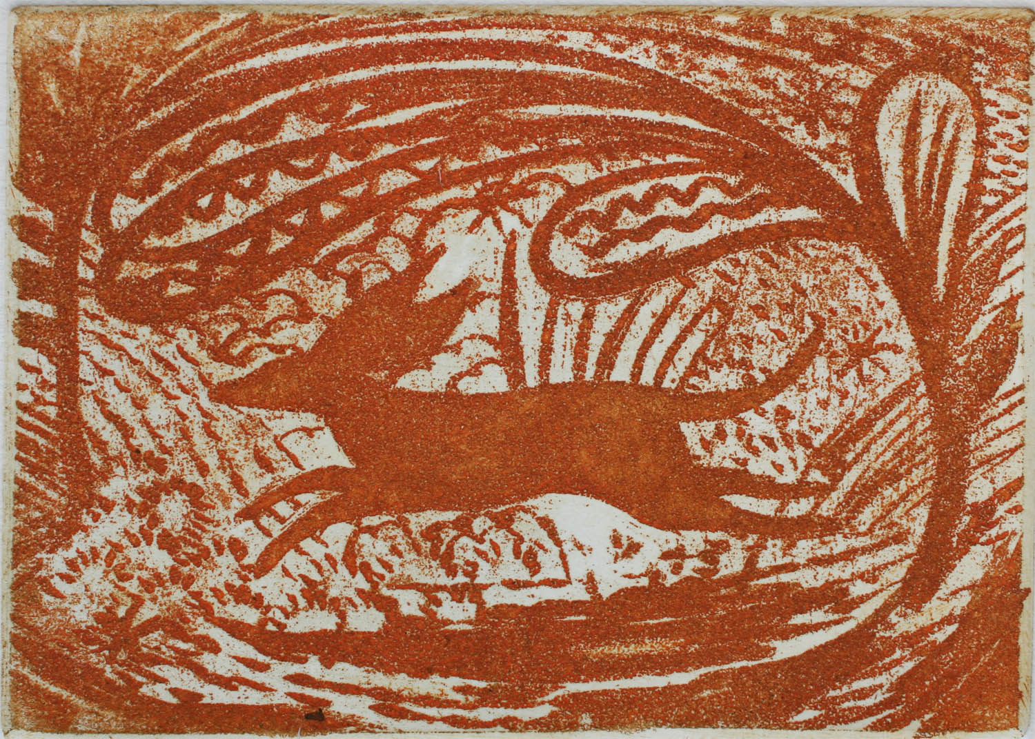 Red Dog sugar lift etching