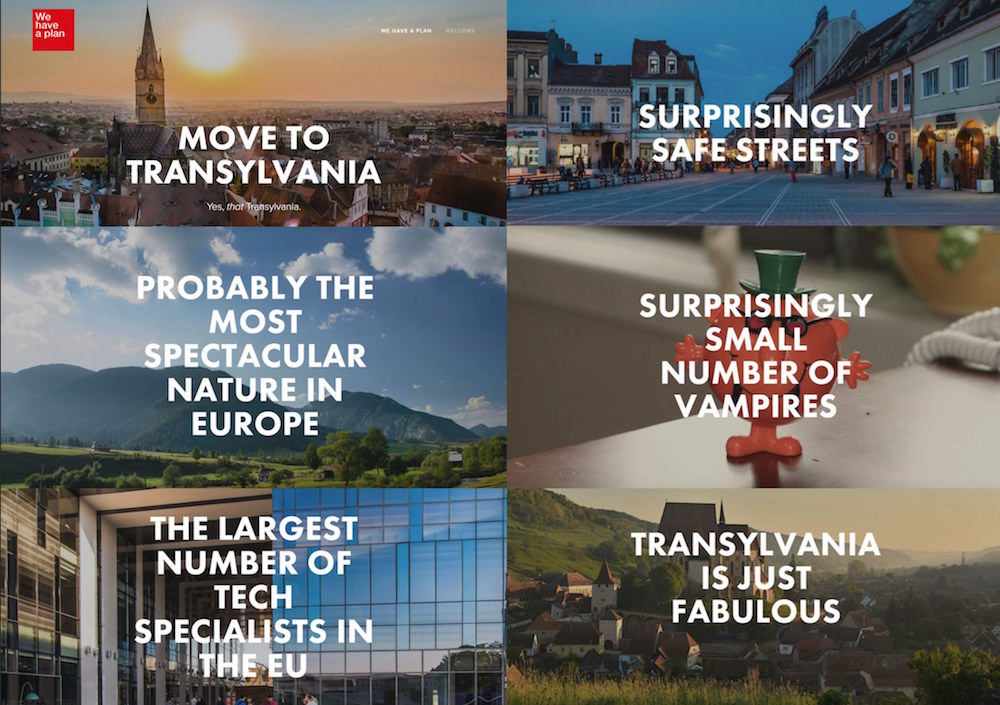 The campaign was launched on   TransylvaniaBeyond.com  and soon became viral, the website being visited by 100.000 unique visitors in the first week.