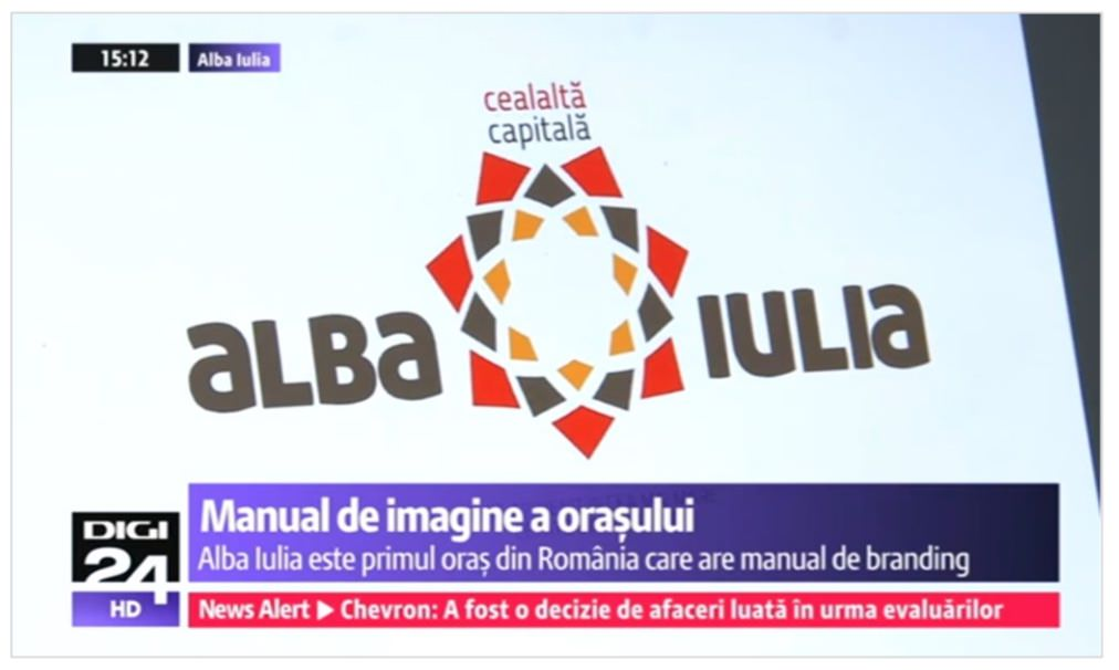 The news about the first city in Romania to have its own brand manual reached the main TV stations:  PROTV  and  DIGITV