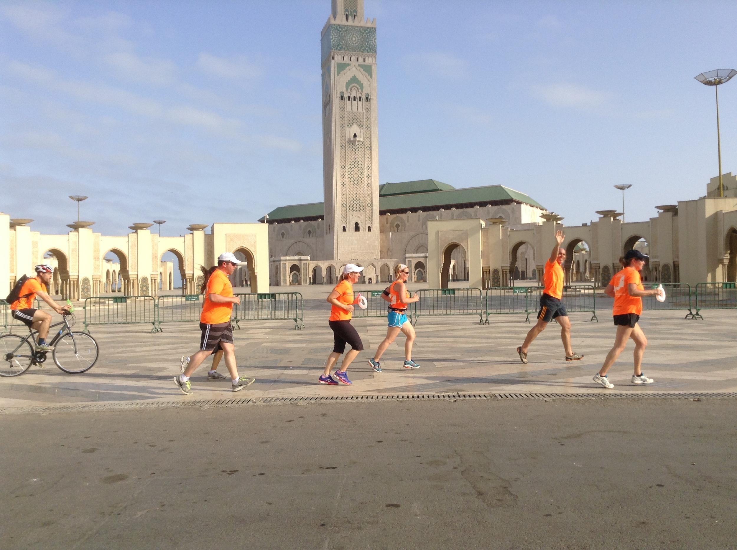 Running in Casablanca, Mohammed V Mosque, August 2015