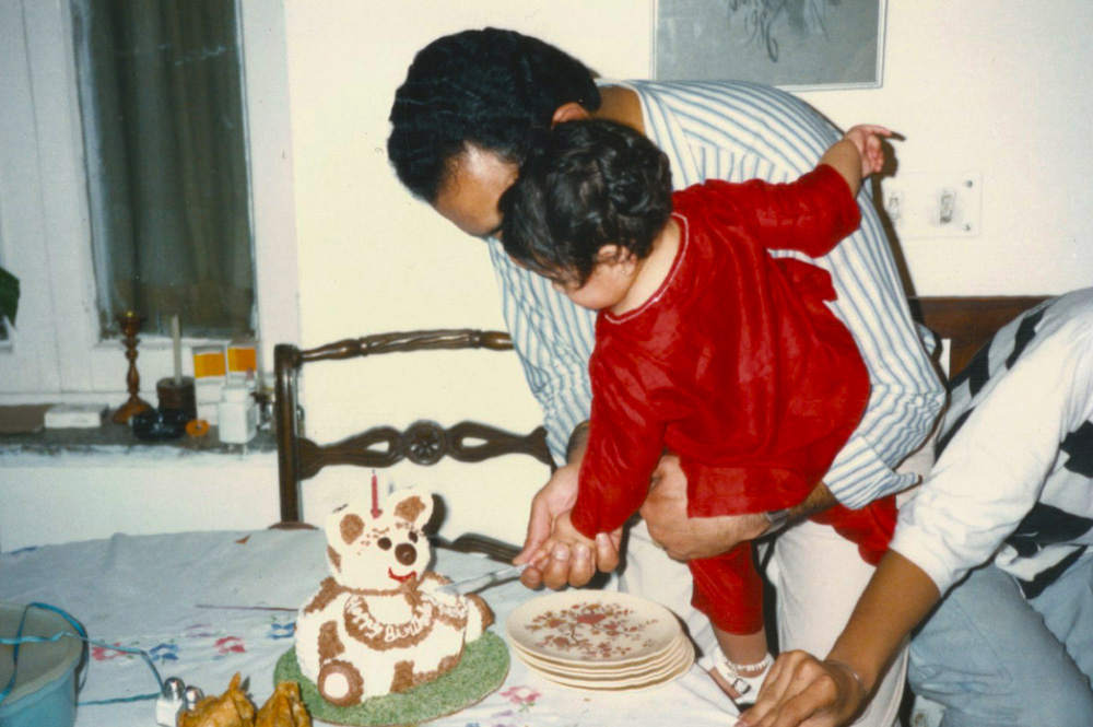 (My Dad and I in India on my 1st birthday. The first and only birthday I spent with him, actually, as he passed away 5 months after this was taken)