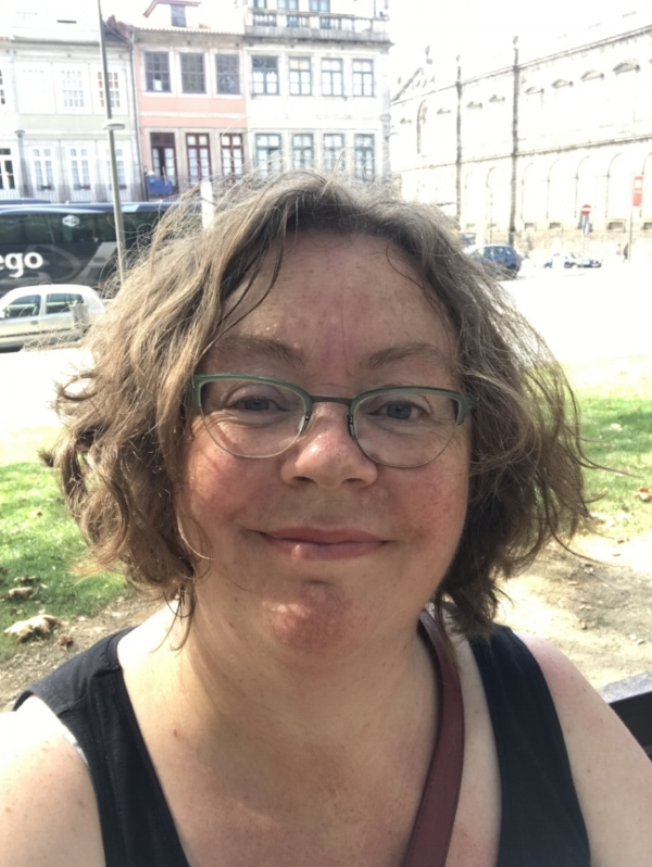 Me, as I am. 54, hot after walking up a big hill and very comfortable in my own skin