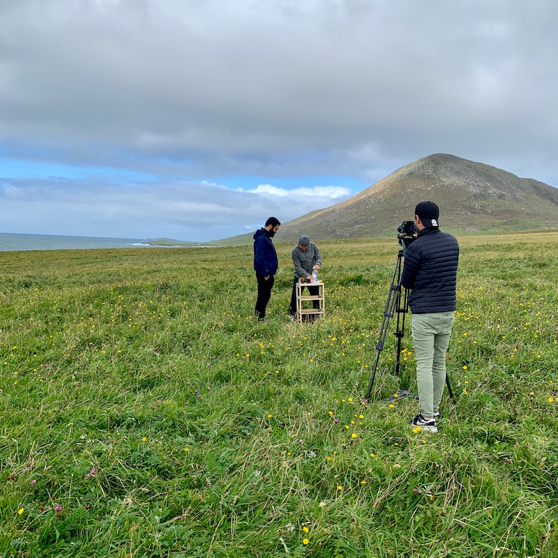 Filming on the machair