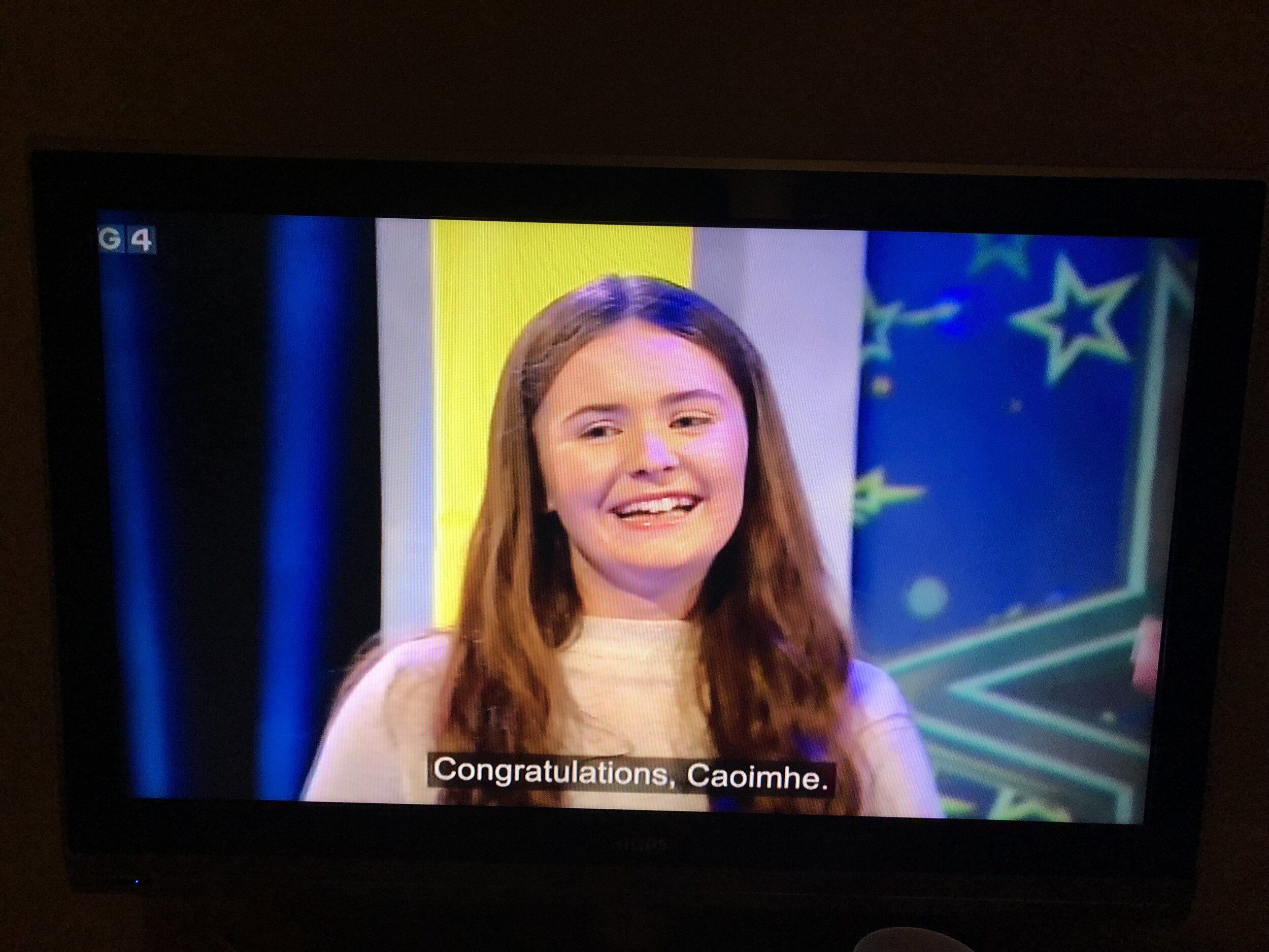 The moment Caoimhe was chosen by the judges to advance to the next level, after a very well fought sing off
