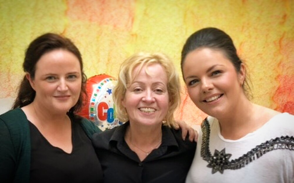 After the last show with Carol Leavy Joyce and Aine McGeeney