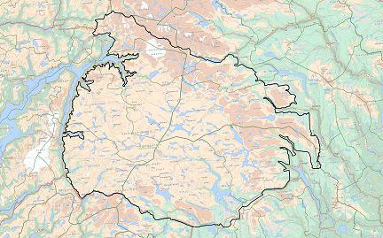 Forslag til avgrensing av planområdet/utredningsområdet, jf. planprogram. Kartarbeid: Norsk villreinsenter
