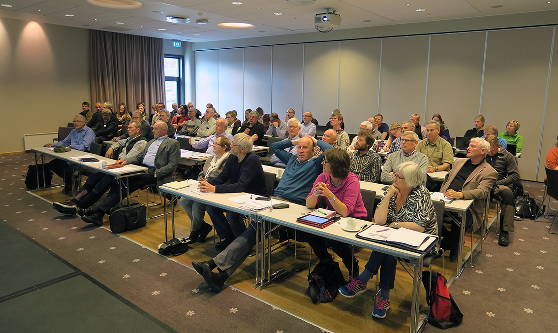 Over 70 personer deltok på fagdagen i regi av Villreinrådet i Norge. Stedet var Skifer Hotell på Oppdal. Foto: A. Nyaas