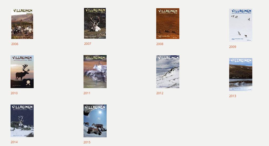 """Alle tidligere utgaver av årboka Villreinen (30 utgivelser)kan nå lastes ned som pdf-filer (1986 t.o.m. 2015). Men, """"Villreinen 2016"""" blir først gjort nedlastbar om ett år. Foto: A. Nyaas"""