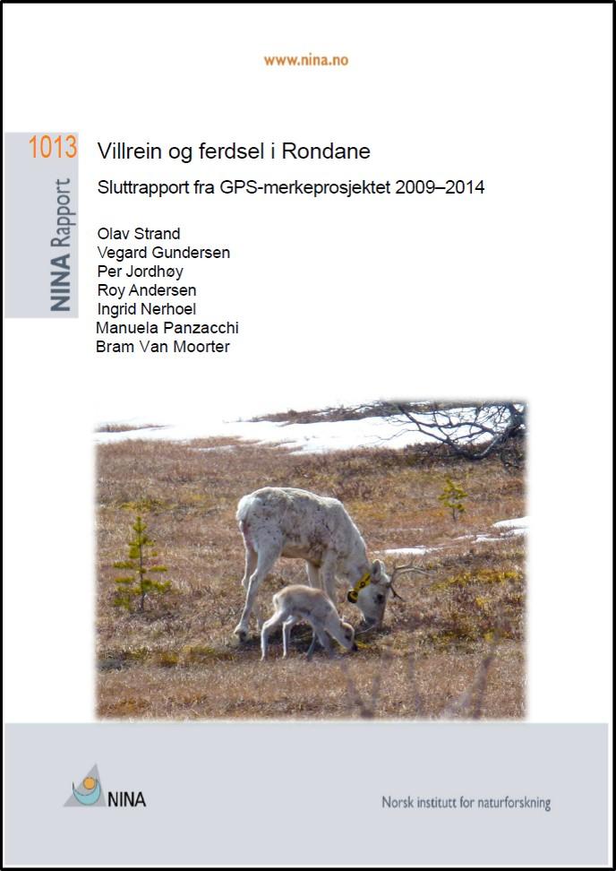 Sluttrapport for  FoU-prosjektet i Rondane  villreinområde. Trykk på rapporten for å laste ned.