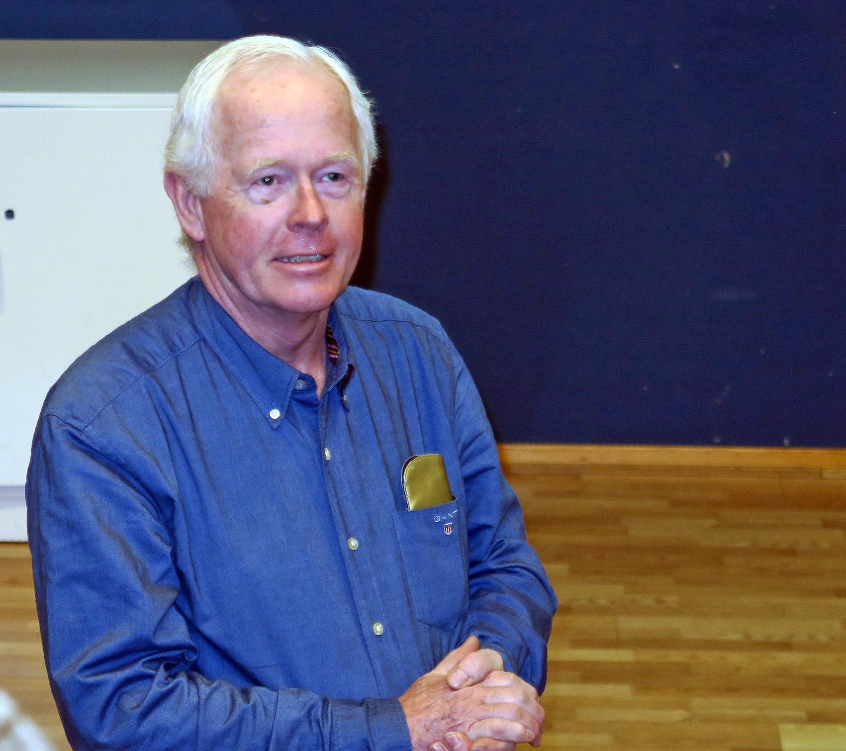 Henning Ø. Poulsson leder Hardangervidda villreinutval for perioden 2016-2020. Lørdag ledet han halvårsmøtet på en utmerket måte. Foto: A. Nyaas