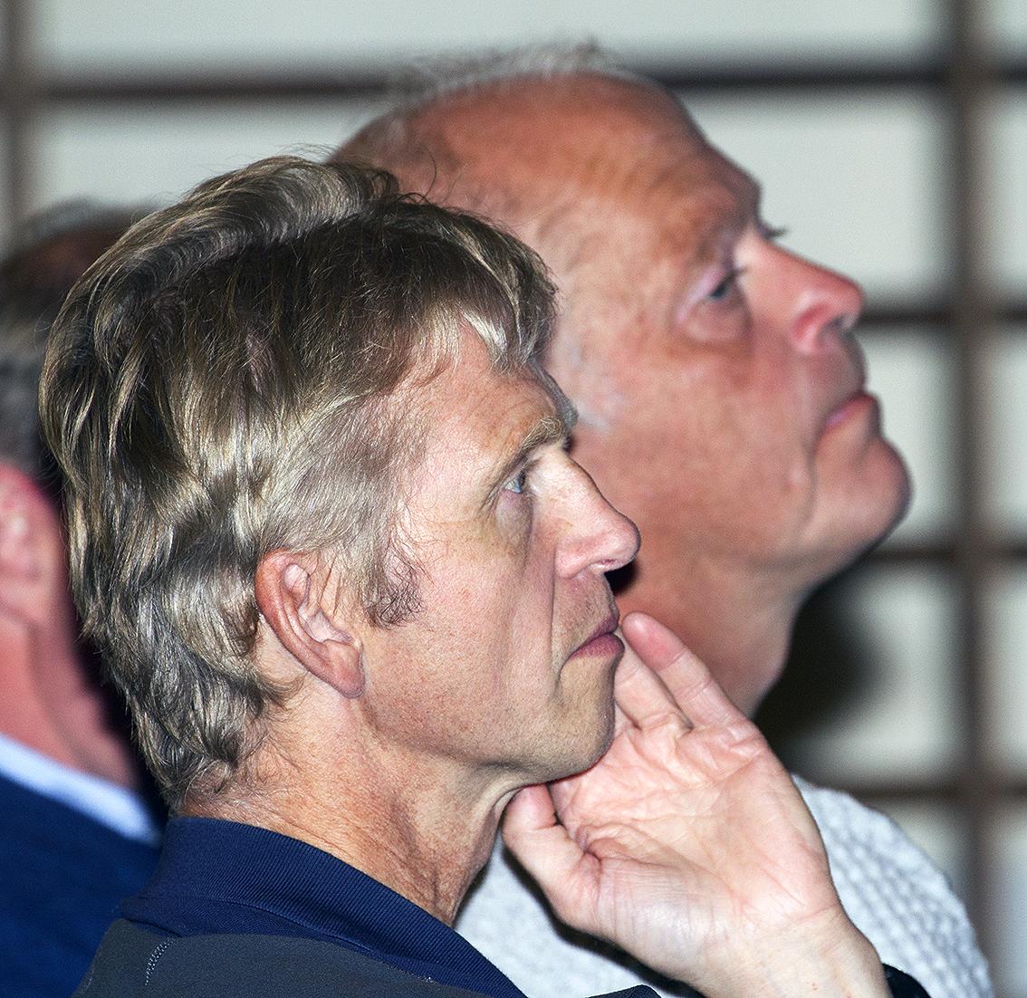 Erik Lund (t.v.), seniorrådgiver i Miljødirektoratet, her sammen med Olav Strand, seinorforsker i Norsk institutt for naturforskning (NINA). Arkivfoto: Arne Nyaas
