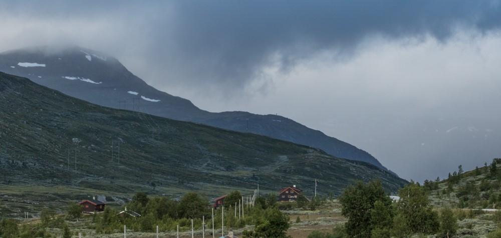 Nordfjella sett frå området ved Breistølen