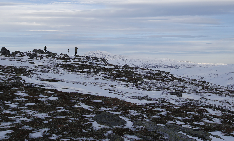 I tillegg til mannskap i helikopter, var det også bakkemannskap ute, både for rekognosering og feltmessig bistand. Foto: Anders Mossing