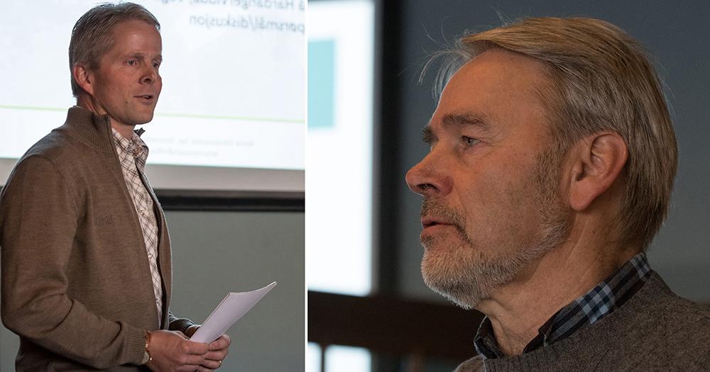 Endre Lægreid (tv) og Vemund Jaren var blant deltakerne på Geilo. Foto: Kjell Bitustøyl